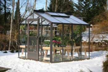 Twinwall Polycarbonate Roof and Single Glass Side Walls