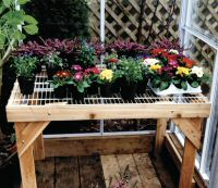 Greenhouse wire top bench